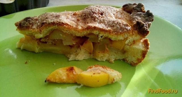 Рецепт Творожный пирог с фруктами рецепт с фото