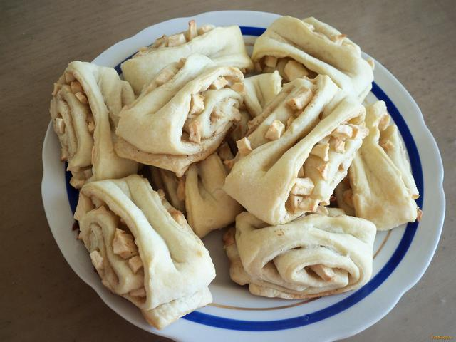 Рецепт Слоеные булочки с яблоками и корицей рецепт с фото