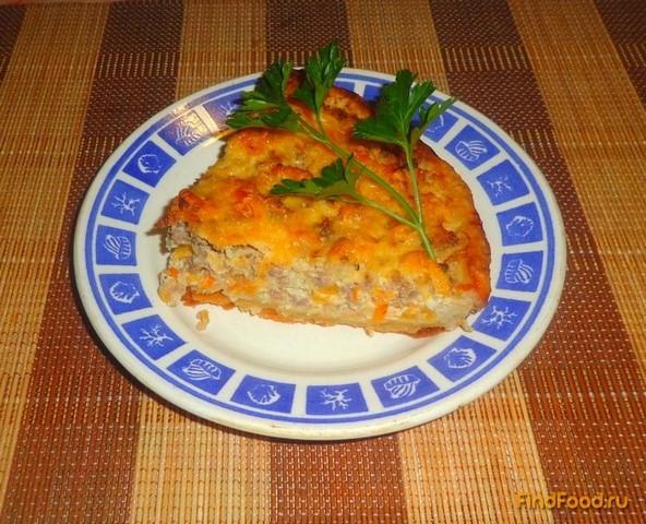Рецепт Открытый пирог с фаршем и овощами рецепт с фото