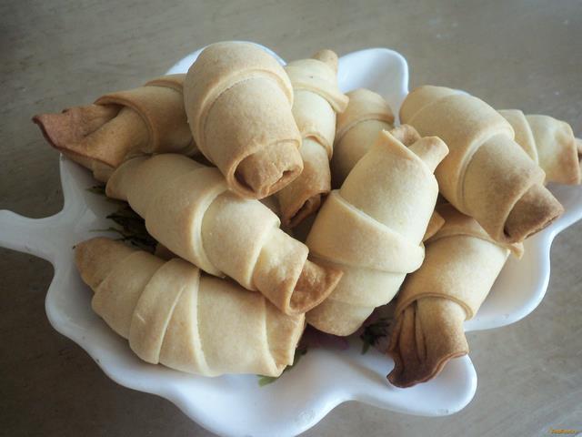 Рецепт Рогалики из песочного теста с маком рецепт с фото