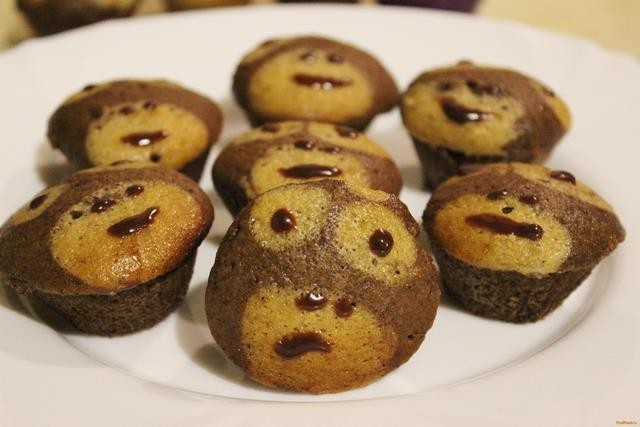 Рецепт Кексы обезьянки рецепт с фото