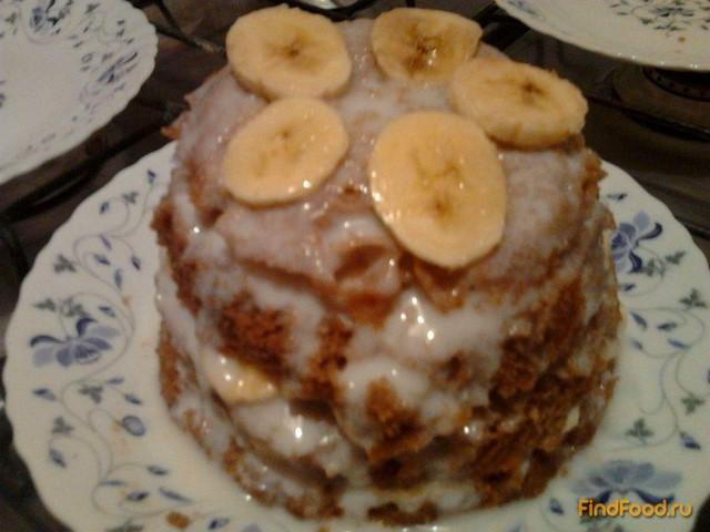 Торт бисквит с бананами рецепт