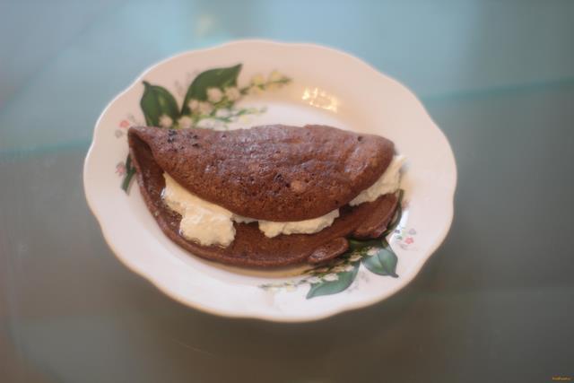 Шоколадный овсяноблин с творогом рецепт с фото 9-го шага