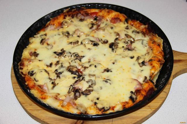 Пицца на корже в духовке рецепт с пошагово