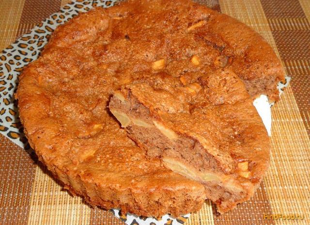 Рецепт шоколадного пирога с яблоками рецепт с