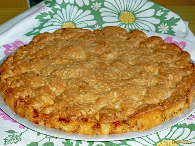 Бисквит на кефире с яблоками рецепт