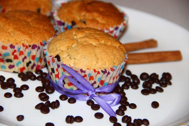 Маффины с шоколадными каплями рецепт с фото