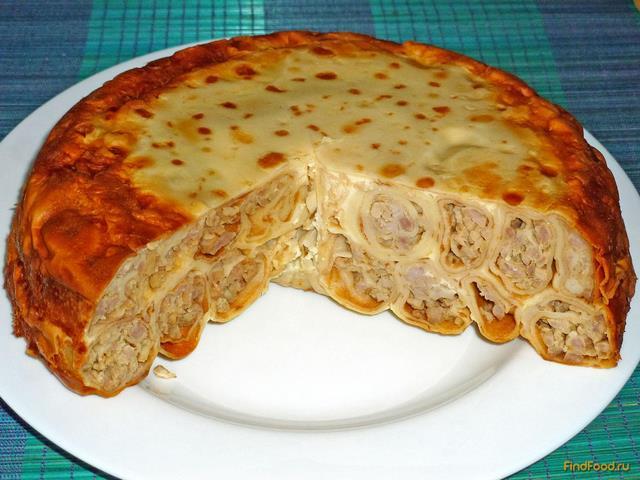 Мясной блинный торт рецепты с фото пошагово