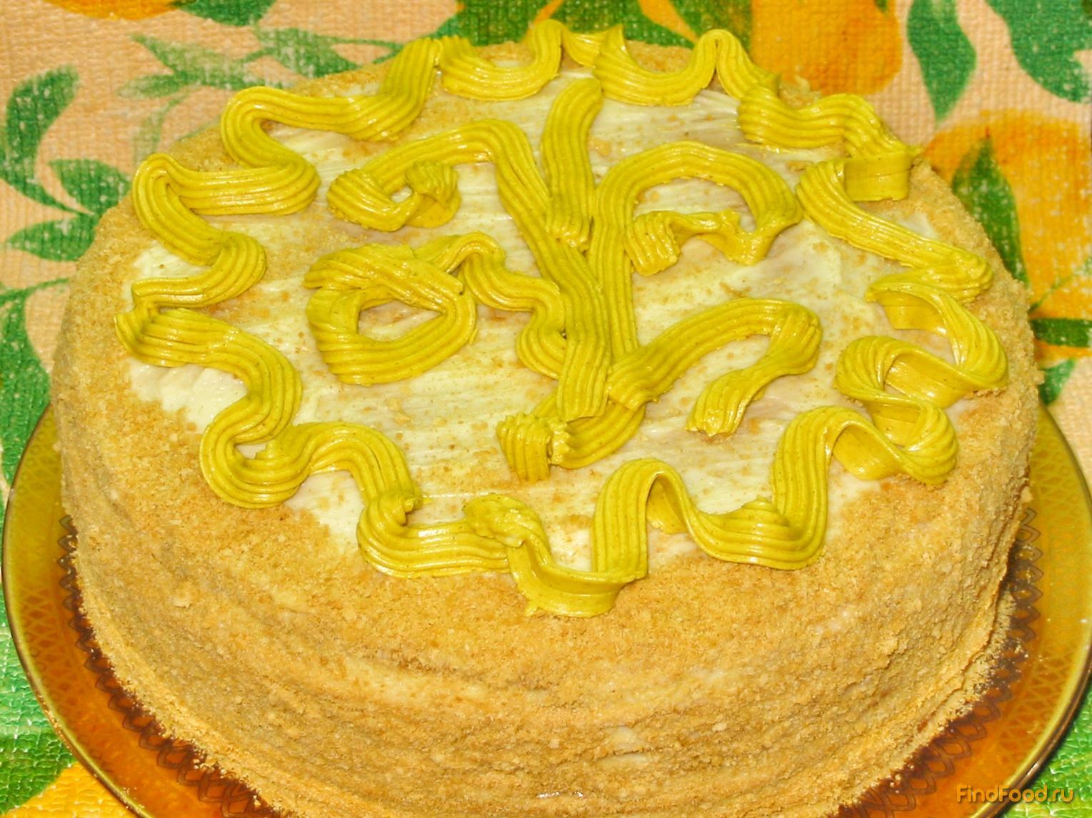 рецепт приготовления медового торта с заварным кремом