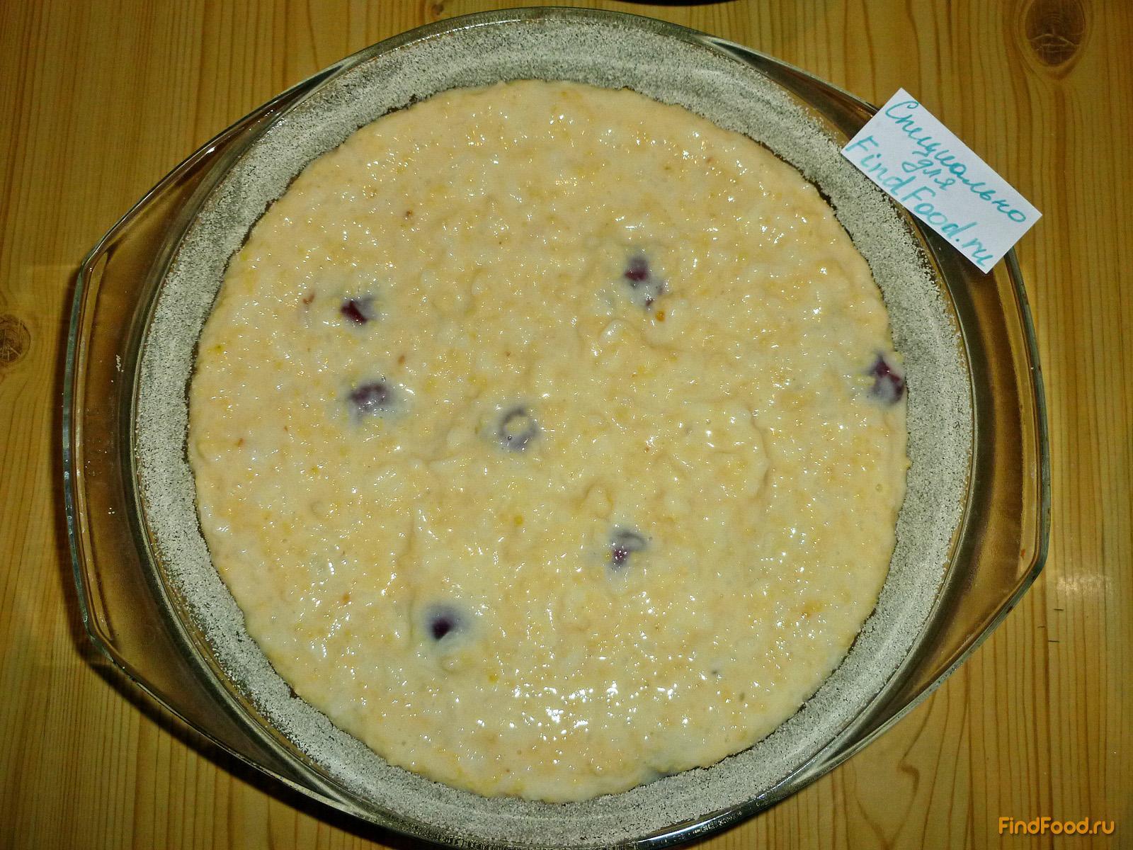 Крупеник из риса и пшена с вишней рецепт с фото 5-го шага