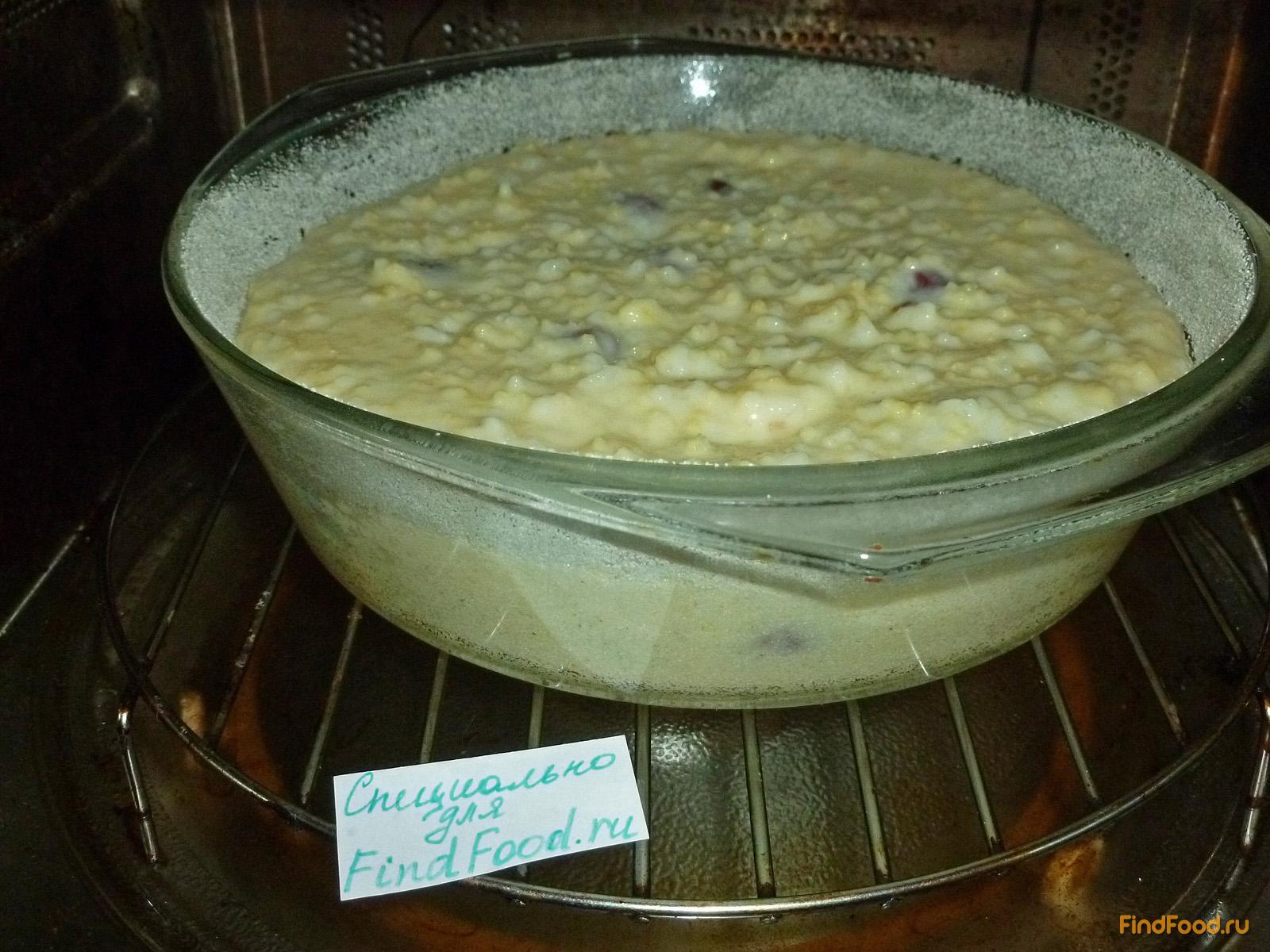 Крупеник из риса и пшена с вишней рецепт с фото 6-го шага