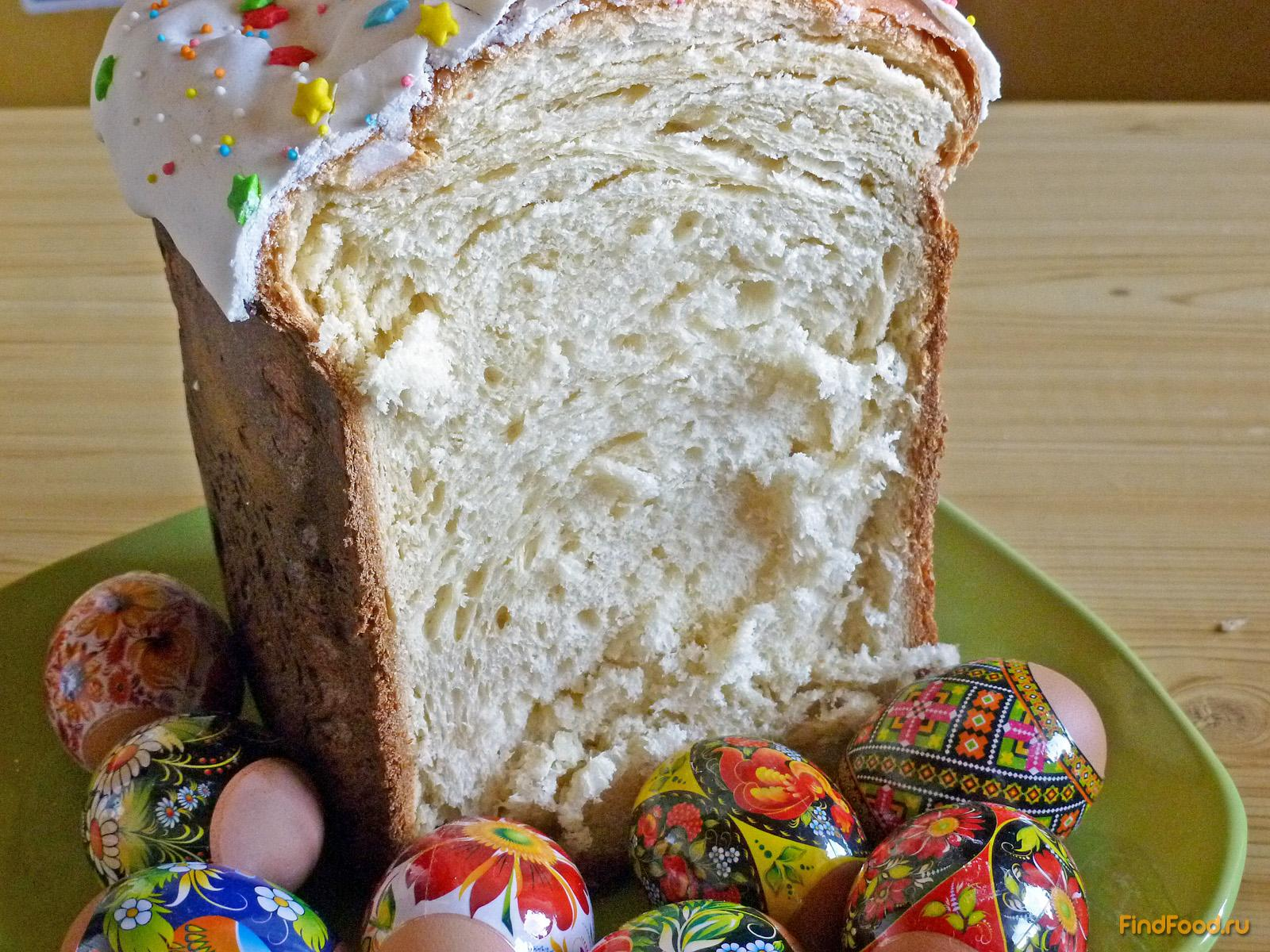 Рецепт кулича для хлебопечки пасхального с пошагово