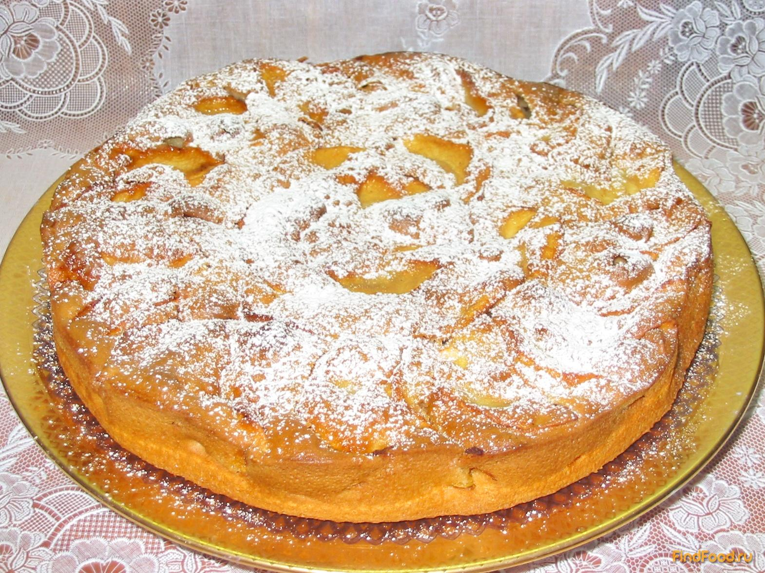 Яблочный пирог на кефире рецепт с
