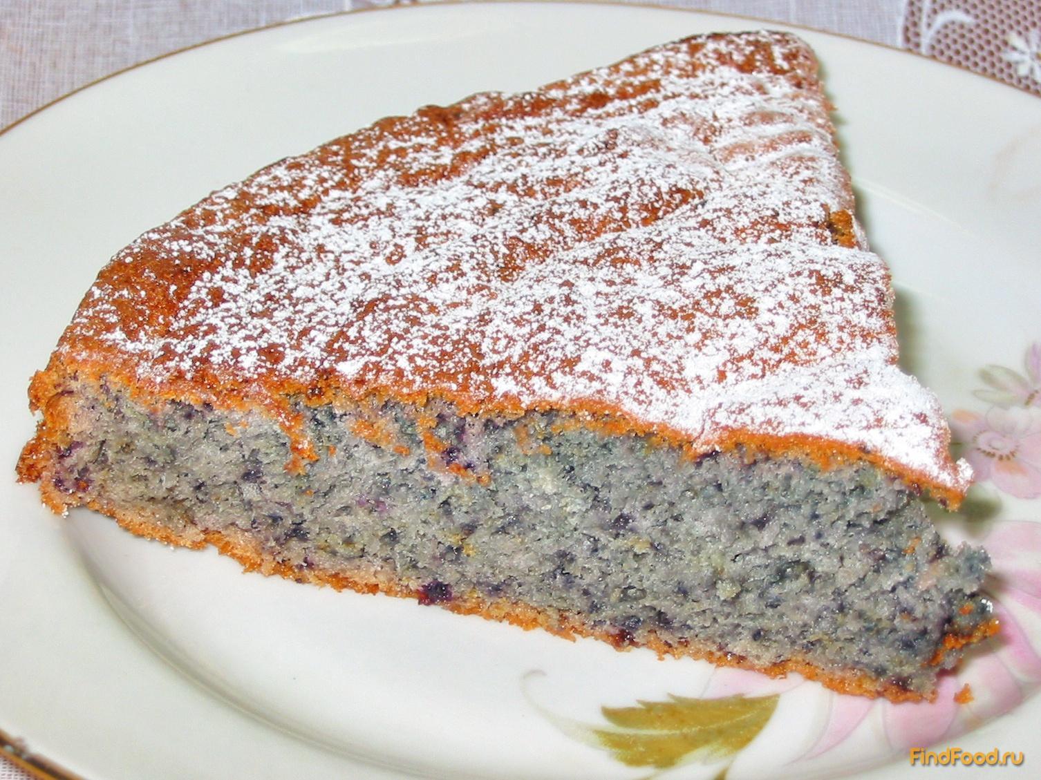 Пирог с черничным вареньем рецепт пошагово