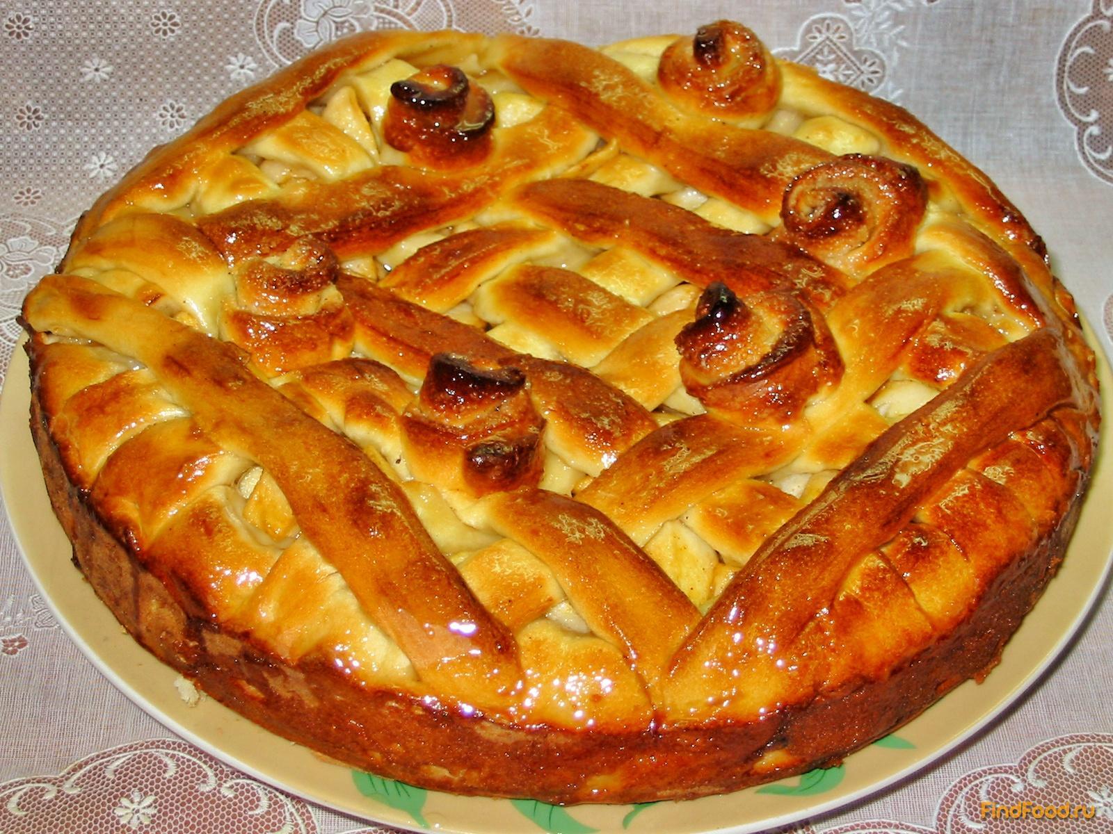 Яблочный пирог на дрожжевом тесте рецепт