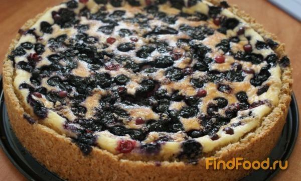 Овсяный пирог с ягодами рецепт с фото 7-го шага