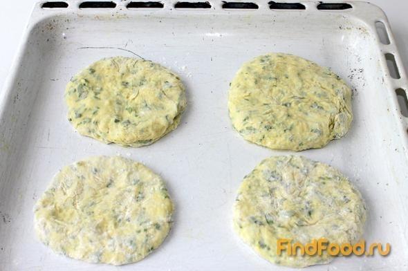 Лепешки из картофельного пюре рецепт с фото 6-го шага