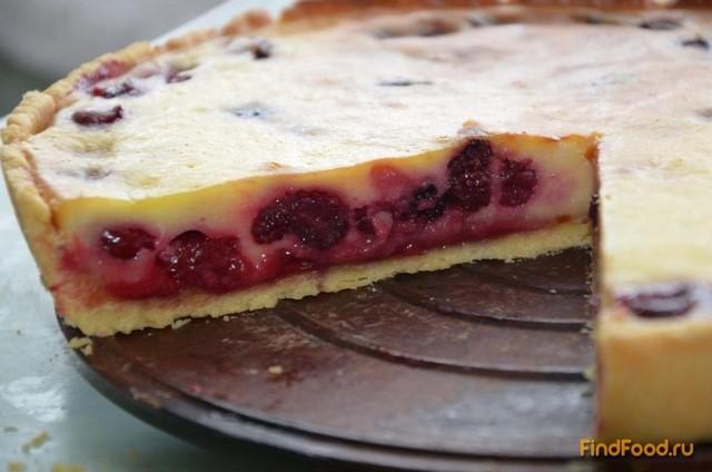 Заливной пирог с вишней рецепт