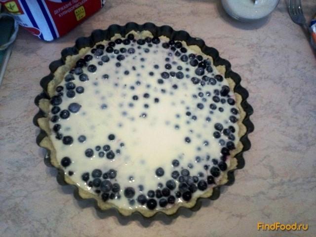 Песочный пирог с черной смородиной - фото 10 шага