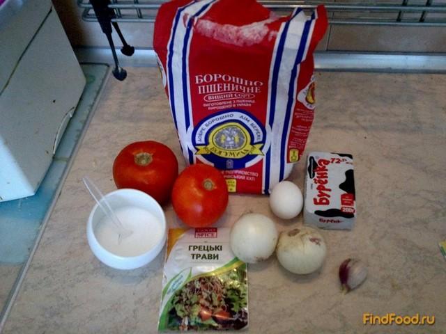 Пирог с луком и помидорами рецепт с фото 1-го шага