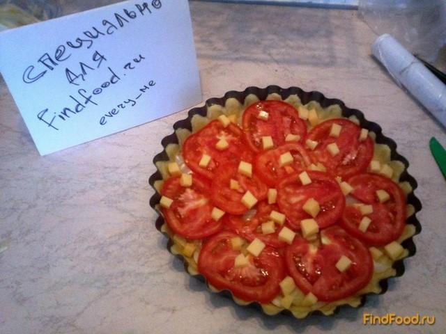 Пирог с луком и помидорами рецепт с фото 8-го шага
