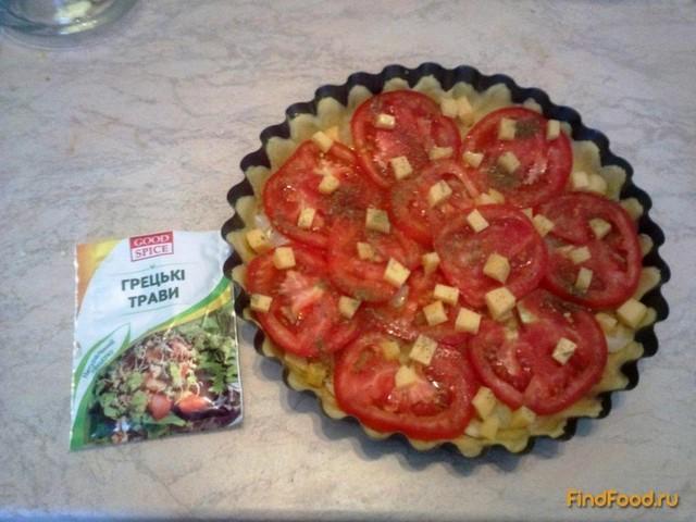 Пирог с луком и помидорами рецепт с фото 9-го шага