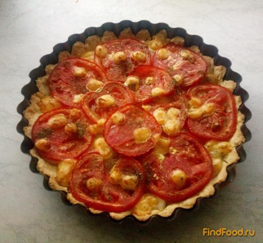 Пирог с луком и помидорами рецепт с фото 10-го шага
