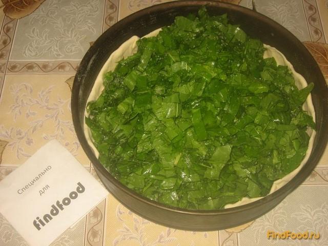 Пирог с щавелем из слоеного теста рецепт с фото 3-го шага