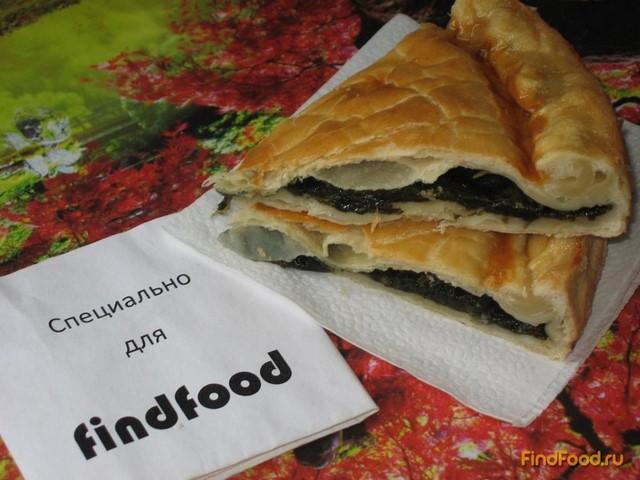 Пирог с щавелем из слоеного теста рецепт с фото 7-го шага
