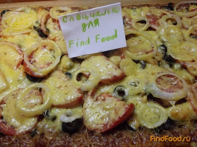Пицца на тонком тесте с морепродуктами рецепт
