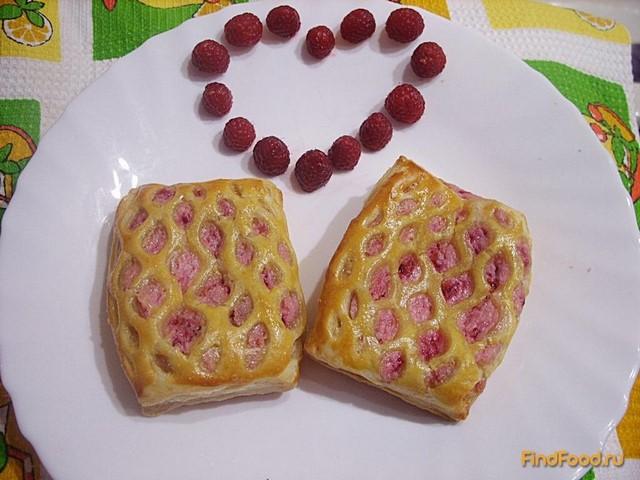 Слоеное тесто с малиной рецепт с пошагово в духовке 27
