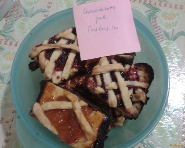 Рецепт песочного пирожного с фруктовой начинкой 157