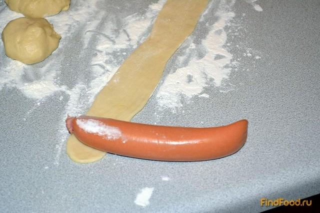 Сосиска в тесте быстро рецепт с фото 4-го шага