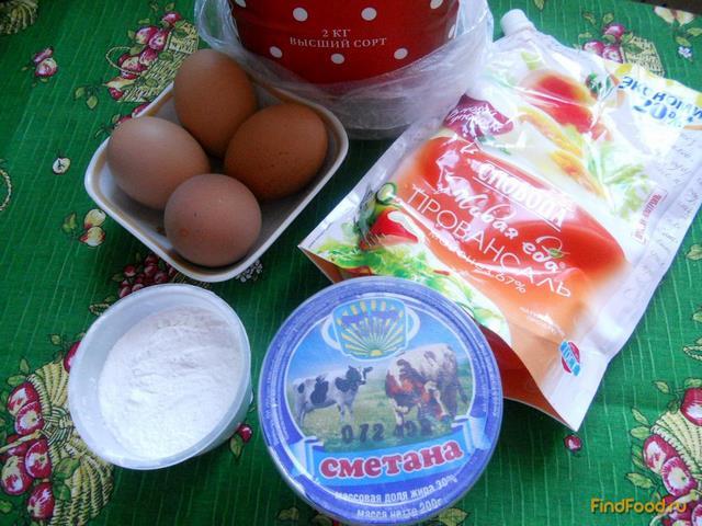 Быстрый пирог с консервами и рисом рецепт с фото 7-го шага