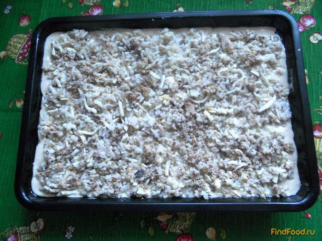 Быстрый пирог с консервами и рисом рецепт с фото 11-го шага