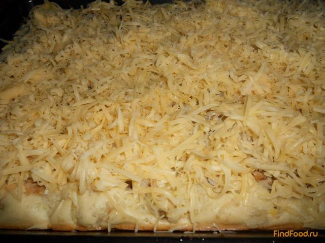 Быстрый пирог с консервами и рисом рецепт с фото 14-го шага