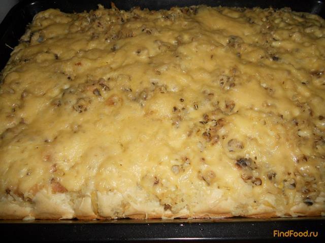 Быстрый пирог с консервами и рисом рецепт с фото 15-го шага