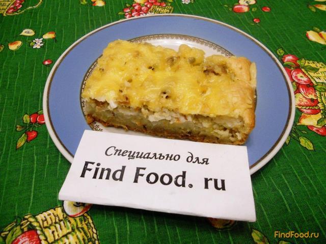 Быстрый пирог с консервами и рисом рецепт с фото 16-го шага