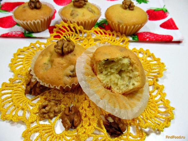 Рецепт Кекс с грецкими орехами рецепт с фото