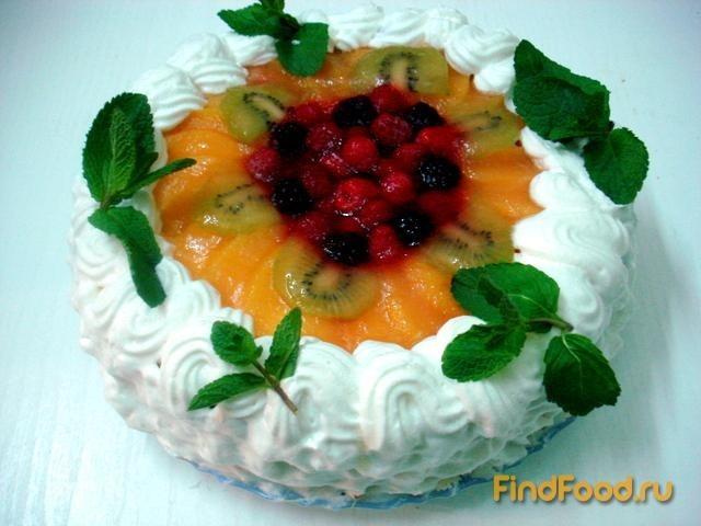 Рецепт Два фруктовых торта на одной основе рецепт с фото
