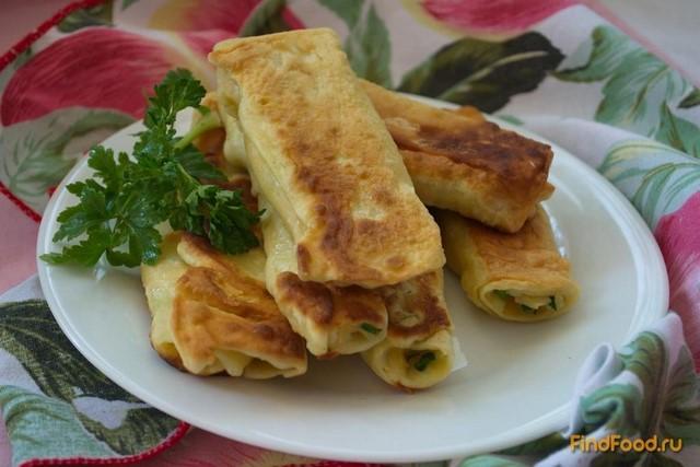 Рецепт Лавашики с сыром и зеленью рецепт с фото