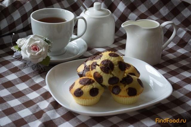 Рецепт Кексы в горошках к чаю рецепт с фото