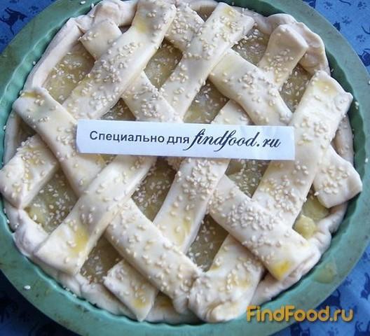 Ревеневый пирог из слоеного теста рецепт с фото 4-го шага