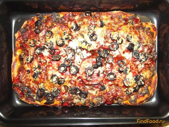 Тонкая пицца рецепт с фото пошагово