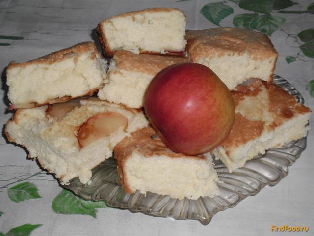 Рецепт Шарлотка с яблоками из бисквитного теста рецепт с фото