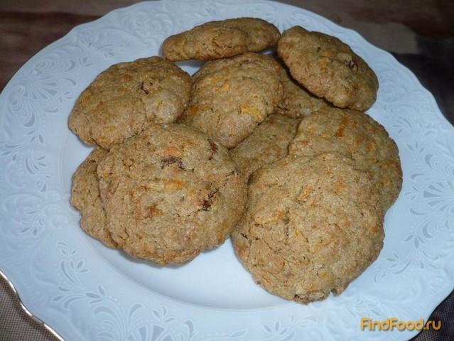 Рецепт Овсяно-ржаное печенье с морковью рецепт с фото