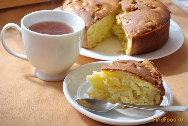 Рецепт Заливной пирог с яблоком рецепт с фото