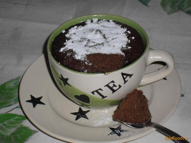 Рецепт Кофейный кекс в кружке рецепт с фото