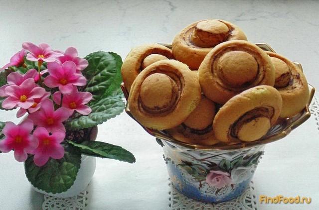 Рецепт Печенье Грибочки рецепт с фото