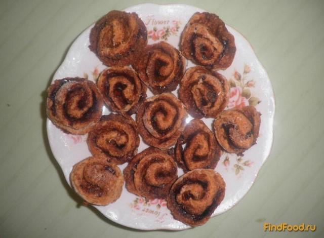 Рецепт Печенье Розочки с какао рецепт с фото